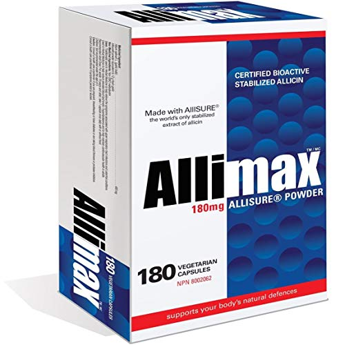 Allimax 180mg 180 Capsules. Supports Your Bodys Immune Function Through Natural Allicin, a Potent Organosulphur Compound Extracted from Clean and Sustainable Spanish Grown Garlic.