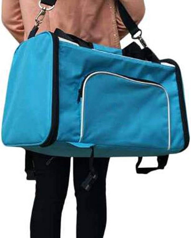 FJH Pet Backpack Out Shoulder Bag Teddy Dog Bag Cat Backpack Pet Bag Back Dog Bag MultiFunction Carrying Bag (color   blueee)