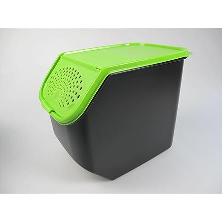 verduras cebollas Capacidad de 7,7 litros Rival 2 cajas de conservaci/ón para patatas frutas Pl/ástico cajas de almacenamiento
