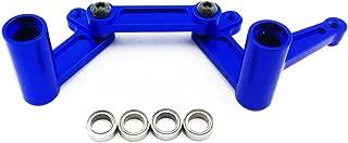 Atomik RC Traxxas Rustler 1:10 Aluminum Alloy Steering Bellcrank Set Hop Up Upgrade, Blue Replaces Traxxas Part 3743