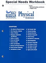 Holt Science & Technology: Physical Science: Special Needs Workbook