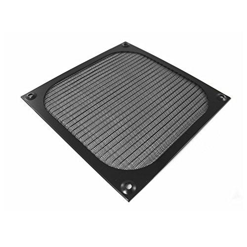 AABCOOLING Aluminium Lüfter Filter, Lüfterabdeckung, für Fan, Staubfilter (80mm, Schwarz)