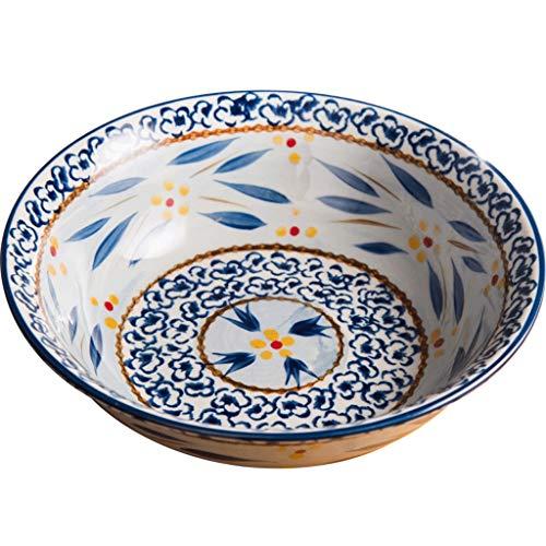 SCDMY Unterglasurfarbe handbemalte europäische und amerikanische Original Single Sauerkraut gekochte Fischschale Keramik Obst Suppenschale Eintopf Schüssel
