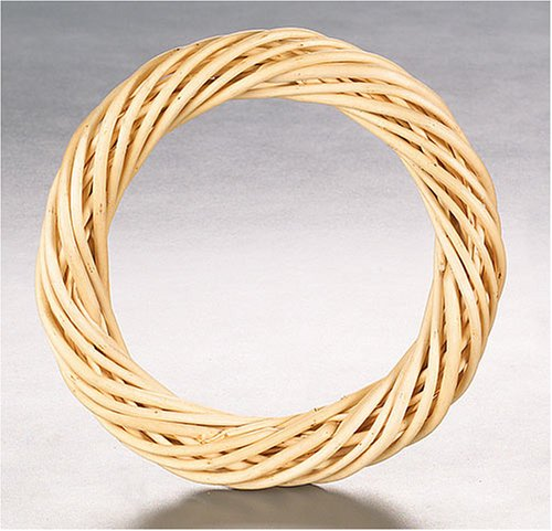 KnorrPrandell - Ghirlanda di Vimini, 23 cm, Confezione da 1, Colore: Naturale