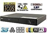 LG BPM-35 Region Free Blu-ray Player, Multi Region Smart WiFi 110-240 Volts, 6FT