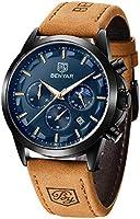 腕時計 メンズ BENYAR - うで時計 メンズ ロノグラフ、パーフェクトクォーツムーブメント、防水とスクラッチ耐性、アナログスタイリッシュなビジネスウォッチ、ベストメンズギフト