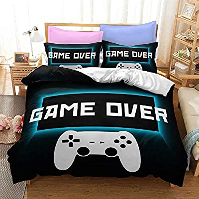 Yumhi Game Over Gamepad Playstation Bedding Sets Bed King Size 3PCS Without Comforter Sheet G18