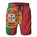 yting Portugal Flag Men with Pocket Shorts de Playa de Secado rápido Cintura Diseño elástico Swim Trunks Swimwear Home Shorts