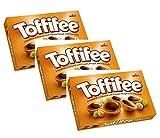 Noisettes entières Storck 'Toffifee' enrobées de caramel à la crème de noisettes et chocolat - 3 x 125 grammes
