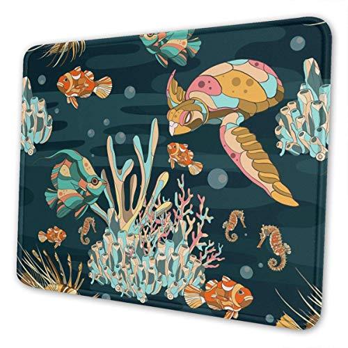 Unterwasser-Aquarium-Mauspad Rutschfeste Gummibasis Wasserdichtes Rechteck-Rechteck-Mausmatte für Computer Laptop-PC-Mauspad für die Arbeit Gaming Office Home