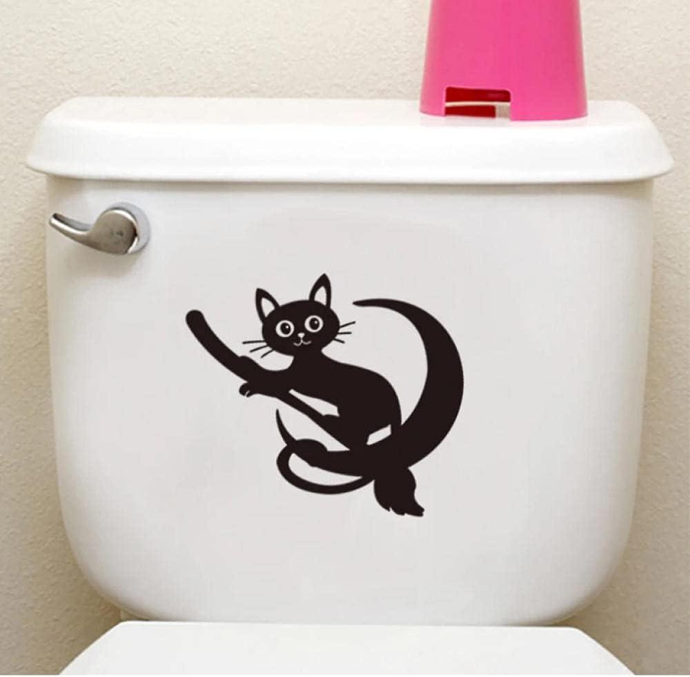 Max 72% OFF Xiaofang Cute Cat Riding A Max 68% OFF Broom Wall Toilet Cu Bathroom Sticker