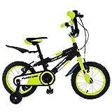 Mediawave Store Bicicletta Flash Line Taglia 12 Bici FLA12 per Bambini età 2-5 Anni (Verde)