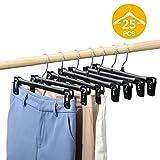 Best Pants Hangers - HOUSE DAY Pants Hangers 25 Pcs 12inch Black Review