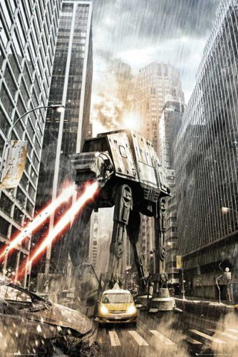 Star Wars - Manhattan - Imperial at-at Film Movie Poster Plakat Druck - Grösse 61x91,5 cm