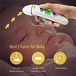 Thermomètre frontal et thermomètre auriculaire medical numérique. Thermomètres 5 in 1. Idéal pour les nouveau-nés, les enfants et les adultes. Lecture instantanée. Approuvé par la FDA. Modèle 2020 #1