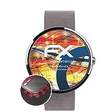 atFoliX Schutzfolie kompatibel mit Motorola Moto 360 2.Generation 46 mm Folie, entspiegelnde & Flexible FX Bildschirmschutzfolie (3X)