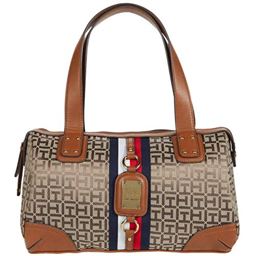 Tommy Hilfiger Leeds Satchel Tan/Dark Chocolate One Size