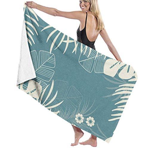 Toalla de microfibra de secado rápido para toalla de playa, de viaje, de natación, de piscina, de camping, al aire libre y deportiva (grande 32 x 52 pulgadas)