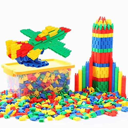 LONTG 450PCS Jeu de Construction Puzzle Enfants EnsembleBlocs Briques de Construction Intelligence en Plastique DIY Jouet Educatif Précoce pour Filles Garçons Cadeau de Noël Anniversaire