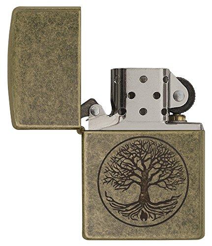 Zippo Feuerzeug Motiv: Baum des Lebens – antikesMessing - 4