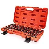 BITUXX 23 TLG Entriegelung Werkzeug Set Auspinwerkzeug Entriegelwerkzeug Universal ISO Kfz PKW Stecker Auspin KFZ Elektrik Klemmen lösen