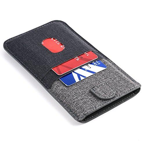 Dockem Luxe 2.0 Cover per iPhone 11 Pro Max, XS Max, 8 Plus, 7 Plus e 6/6S Plus con Tasche per Carte: Porta Biglietti da Visita in Similpelle Sintetica: Custodia a Tasca con 4 Slot per Porta Carte