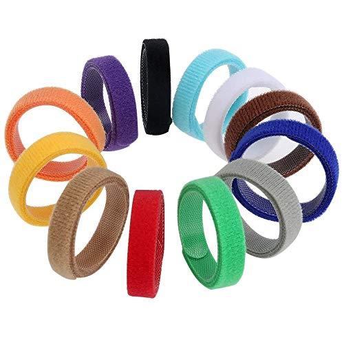 GTIWUNG Juego de 12 Collar de Mascota, Collares Ajustables para Mascotas, Collar de Cachorro Gatito Banda de Identificación de Cachorro Suave y Ajustable, 12 Colores