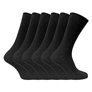 Sock Snob 6 pares calcetines negros hombre 100% de algodón vestir para verano