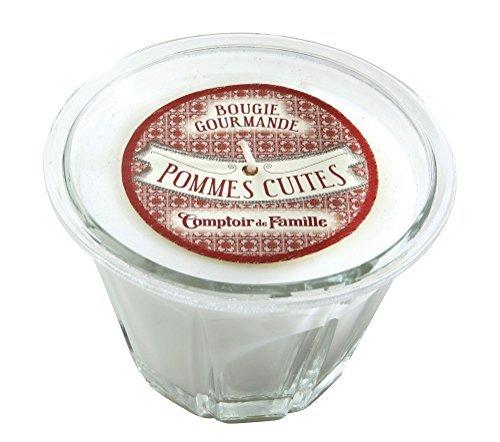 Comptoir de Famille 522 Bougie Pommes Cuites Verre Transparent 35 x 23,5 x 9 cm by Comptoir de Famille