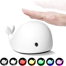 Night Light for Kids and Baby, LED Dolphin Nightlight for Nursery, Rechargeable Tap..