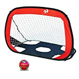 Liuxiaomiao Portería de Fútbol 5-7 Red de fútbol portátil para niños, niños, Deportes al Aire Libre, Plegables, Meta de fútbol Portátil para Interiores y Exteriores (Color : Red, Size : 112 * 80cm)