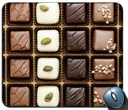 Verschiedene Arten von Pralinen Süßes Essen Personalisierte Rechteck Maus Pad Maus Matte
