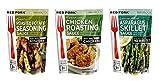 Red Fork Seasoning Sauce 3 Flavor Variety Bundle: (1) Garlic Roasted Potato, (1) Lemon Herb...