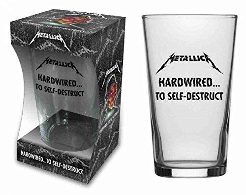 for-collectors-only Vaso de cerveza Metallica Hardwired de cristal, XL