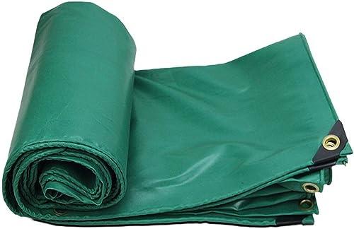 Tarpaulin Tissu Anti-Pluie épaissi, bache de Prougeection Verte, baches Robustes, Tapis de Sol, Coupe-Vent, Couverture de remorque de Tente imperméable, Tapis de bache bache de Camping