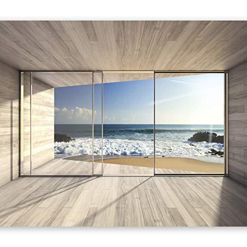 murando Carta da parati 400x280 Fotomurali in TNT Murale alla moda Decorazione da Muro XXL Poster Gigante Design Carta per pareti mare natura paesaggio finestra c-A-0084-a-b