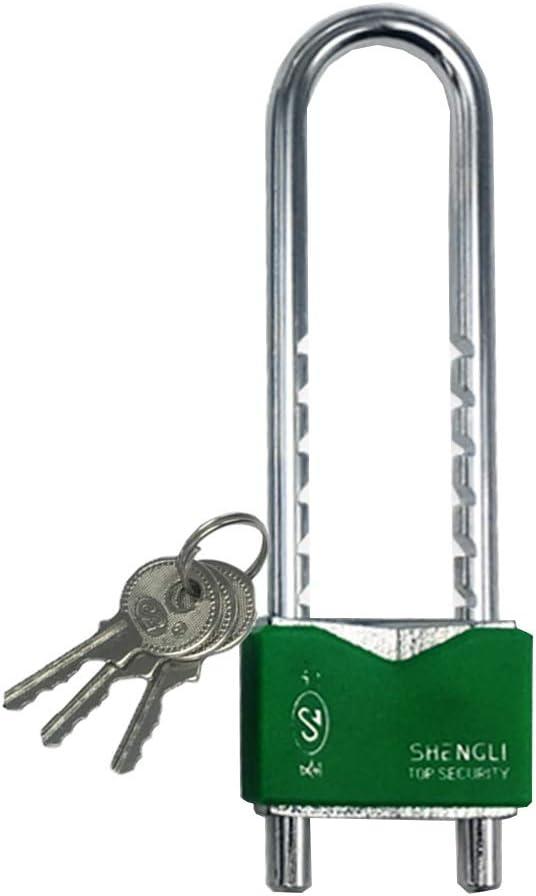 WXYZ candado llave Desmontable En Forma De U Llave Del Candado Longitud Se Puede Ajustar Libremente Usado Valla De Contenedores Armario Bloqueo De Seguri 19x3.5cm Bloqueo Del Espacio De 14.5x2.8cm