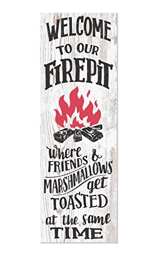 Welcome to Our Fire Pit Rustic Wood Wall Sign 6x18