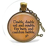bab Hakespeare's Macbeth - Collar de burbujas para quemar y caldero (doble trabajo y doble fuego), diseño de bíblica