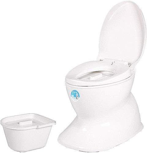 Siège de Toilette en céramique déodorant antidérapant Portable pour Femmes Enceintes, Vieil Adulte, Tabouret de Toilette Mobile