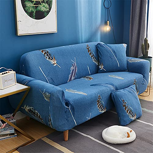 ZIJIAGE Slipcover Sofa,Solid Color armrest Sofa Cover Fabric dust Cover,for Living Room Pet Dog Furniture Protector,F,1 Seater