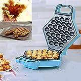 HHORD Macchina per Waffle Elettrica con Rivestimento Antiaderente Piastra Waffle Elettrica Uovo Cialde Acciaio Inossidabile Ruotabile di 180 Gradi Bubble Waffle Maker per Uso Domestico