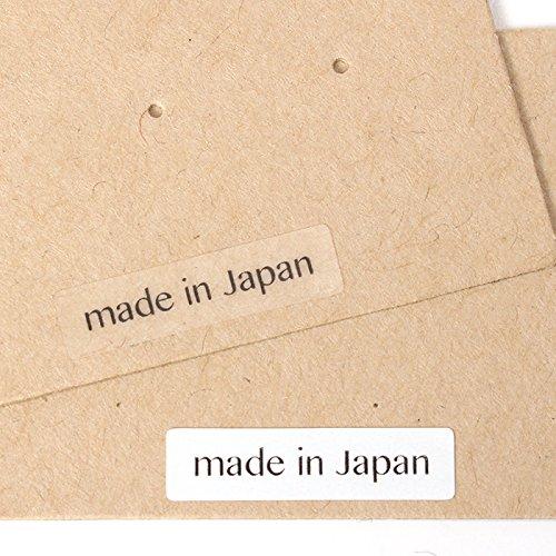 台紙用シール 20×5mm 日本製 アクセサリー台紙用 (made in Japan (1行)・透明, 1000枚)