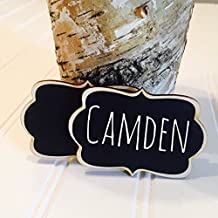 6 Reusable Chalkboard Name Tags, Chalkboard Name Badges, Magnet Name Tags, Perfect for Office Parties, Meeting,Corporate Events, Retail Name Tags