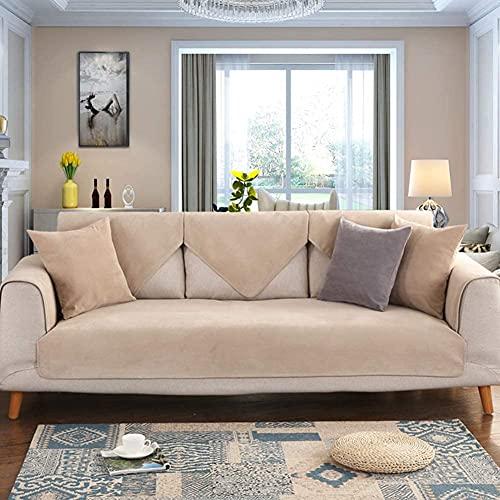 QZMX Funda de sofá de algodón suave, funda nórdica en forma de L, antideslizante, protector de muebles, reposabrazos, para sofá, sillón reclinable, sofá