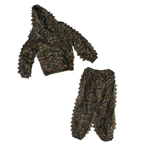 Generic Ghillie Suit 3D Leaf Camo Woodland Camouflage Mesh Forest Hunting Cloth