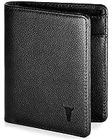 TORRO Genuine USA Leather Men's Billfold Wallet [RFID Blocking] [5 Credit Card Slots] [1 Microfiber Lined Cash Compartment] [Slim Profile] [Bifold] (Black)