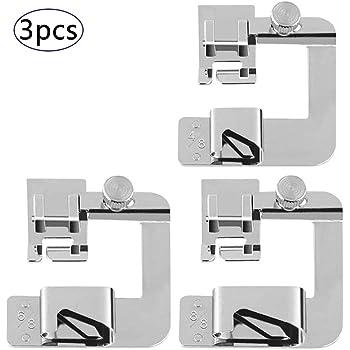 Kit de prensatelas para máquina de coser, piezas de repuesto y accesorios para máquinas Brother o Singer (Set de 8 ...