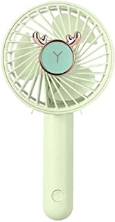 VJGOAL Ventilador de Mesa Verano Silencioso USB Recargable Ventilador de Mano Ajustable 3 velocidades Oficina al Aire Libre Portátil