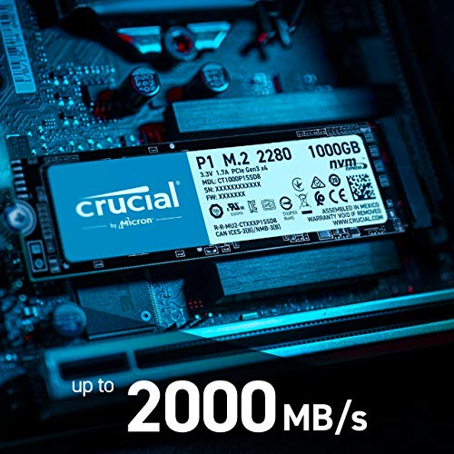 Crucial P1 500GB CT500P1SSD8 Internes SSD-bis zu...
